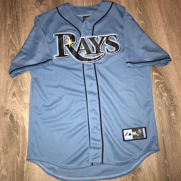 size 40 5efee 8fe36 Tampa Bay Rays MLB Jersey Light Blue Large Men's
